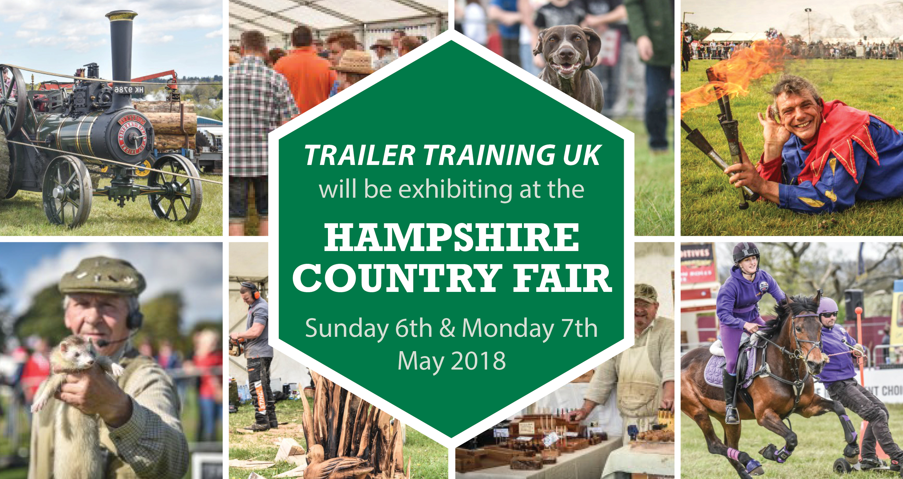 Trailer Training UK will be exhibiting at the Hampshire Country Fair 2018